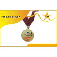 Buy cheap Sports Award Metal Medals With Personalized Ribbon Pattern For Souvenir Gifts from wholesalers
