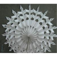 Buy cheap Offset Paper Hanging Fan for Wedding Party Exhibition Decorations from wholesalers