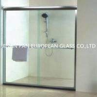 China High quality 15mm frameless tempered glass for bathroom doors on sale