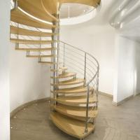 Buy cheap Modern Design Indoor Stairs Stainless Steel Railing Glass Spiral Staircase from wholesalers