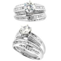 Buy cheap Competitive price gold diamond unique crystal wedding ring sets with rotation patterns from wholesalers
