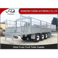 Buy cheap Three Axles Aluminum Livestock Trailers / Stake Bed Trailer With Four  Main Beam from wholesalers