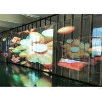 Buy cheap Transparent Video Glass Screen Side luminous Display SMD3512  P15.6 For Supermarket from wholesalers