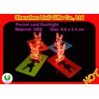 Buy cheap Plastic mini credit card led flashlight torch LED flashing toys, size is 86*53*3.5mm from wholesalers