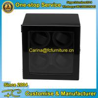 Buy cheap High end watch winder with MDF in black high gross finish 4 rotors 4 motors for 4 watches from wholesalers
