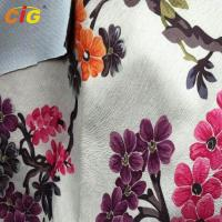 Buy cheap Printed Super Soft Velour Burnout Sofa Upholstery Fabric 100% Polyester product