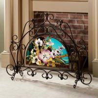 Buy cheap Tropical Orchid Fireplace Screen from wholesalers