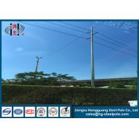 Buy cheap 10KV - 220KV 4mm Electric HDG Steel Tubular Pole , Yield Strength 345MPA from wholesalers