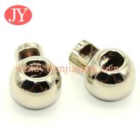Buy cheap jiayang round shape cheap metal stopper for elastic cord from wholesalers