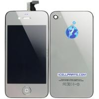 Buy cheap Electroplated LCD Digitizer & Back Cover & Button Assembly-Silver For Apple iPhone 4 from wholesalers