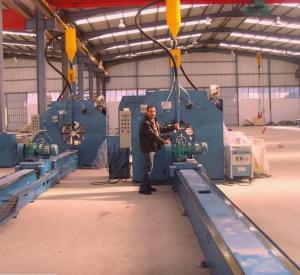 Buy cheap 16m Length Autotmatic Welding Light Pole Production Line 4KW AC Motor product