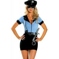 Women'S Erotic Halloween Adult Costumes Sexy Cop Cosplay  P.D. Blue Superwoman