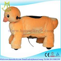 Buy cheap Hansel battery power riding plush toy horse animal on wheels from wholesalers