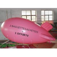 Buy cheap Large Pink Inflatable Balloons Airship Model For Advertising Event / Airship Balloon Flying from wholesalers