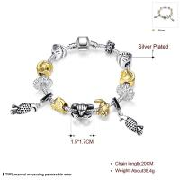 Buy cheap SJ Personalized Women Jewelry Accessories Vintage Ethnic Style Magnet Buckle Mix Animals Fish Charm Bead Bracelet from wholesalers