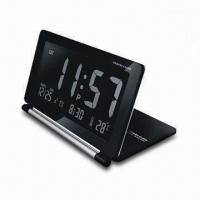 Buy cheap Travel Clock with Alarm and Snooze Functions, Operated by 1 x CR2,025 from wholesalers