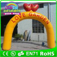 Buy cheap Guangzhou QinDa Inflatable custom made with your logo advertising inflatable arch for race from wholesalers