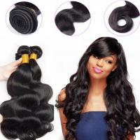 Buy cheap 1B Color Peruvian Human Hair Bundles Machine Double Weft Tangle Free from wholesalers