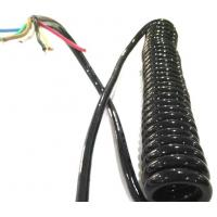 Buy cheap Colorful Shielded Electrical Spring Coiled Electrical Wire Curly Flex Cable Mulit Core product