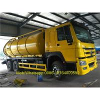 Buy cheap 18CBM 336hp Vacuum Suction Sewer Cleaning Truck 6x4 Desiel Fuel Type from wholesalers