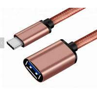 Buy cheap Shiny Pink 3.1 USB Type C Cable To 3.0 A Female 30 Cm For USB OTG Function from wholesalers