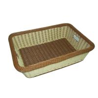 Buy cheap Washable Brown Rattan Laundry Basket Craft Square Shape For Home from wholesalers