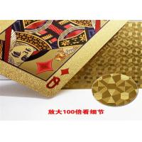 Buy cheap 63*88cm Personalized Poker Cards , Custom Embossed Playing Cards With Foil Plated Box from wholesalers