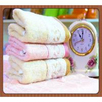 Buy cheap 30% Cotton 70% bamboo fiber jacquard embroidered bath towels from wholesalers