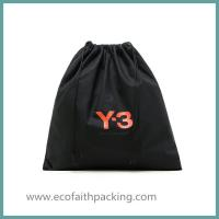 Buy cheap customized black cotton drawstring shoes bag,cotton shoes dust bag from wholesalers