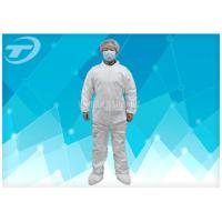 Buy cheap Hood Waterproof Disposable Coverall Suit With Polypropylene Spunbond from wholesalers