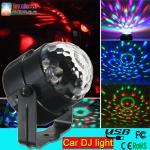 Buy cheap 5v 1A 3w car dj light mini rgb led disco dj flash light for the car led magic ball light from wholesalers