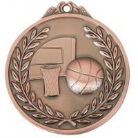 Buy cheap 6.5 x 0.3 cm, zinc alloy, basketball bronze medal prize from wholesalers