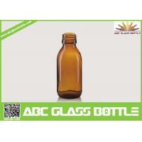 Buy cheap 60ML Screen Printing Pet Syrup Amber Glass Bottle product