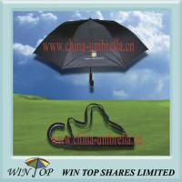 Buy cheap 2 Fold Black Umbrella with Carrying Bag from wholesalers