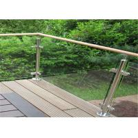 Buy cheap Durable Glass Balustrade Stainless Steel Handrails , Tempered Glass Railing Systems from wholesalers