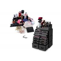Buy cheap Black Acrylic Cosmetic Display Stand Clear Makeup Storage Organizer With 12 Drawers from wholesalers