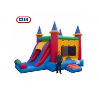 Buy cheap Removable PVC Triple Play Moonwalk Double Slide Combo 3 Years Warrenty from wholesalers