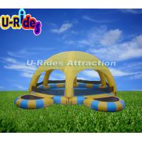 Buy cheap Outdoor Yellow Kids Inflatable Swimming Pools Tent With 12 Months Warranty from wholesalers