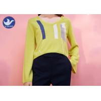 Buy cheap Long Sleeves Crew Neck Sweater Womens Embroidered Spring Clothing Multi Size from wholesalers