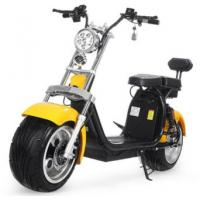 Buy cheap EcoRider 18inch Big Tire 60V 1500w 2 wheel electric harly scooter with Shock absorber and double seats product