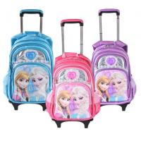 Buy cheap Cute Disney 5D Frozen Anna and Elsa Princess School Bag Trolley Bag For Teenagers from wholesalers