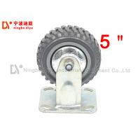 Buy cheap 5 Inch Non Skid Heavy Duty Roller Wheels Flat Directional PU Caster Wheel Without Brake from wholesalers