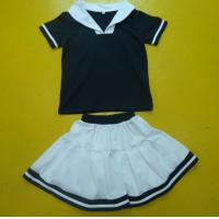 Buy cheap Navy And White Boy And Girl Matching Outfits With Polo Shirt Skirt Pant Customized Size from wholesalers