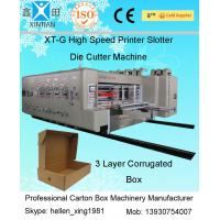 Buy cheap Automatic Spray Carton Printing Slotting Machine With Ceramic Anilox Roller And Stacker from wholesalers