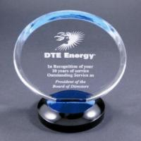 Buy cheap Clear Round Acrylic Award Trophy With Laser Engraving Logo For Gift from wholesalers