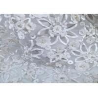 Buy cheap Customizable Weft Knitted Mesh Lace Fabric Beautiful Embroidered Mesh Fabric from wholesalers