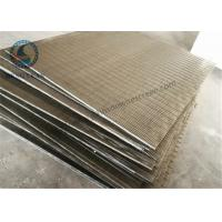 Buy cheap Stainless Steel 304 316 Wedge Wire Screen V Shape Slot Screen Panels 1219 mm Length from wholesalers