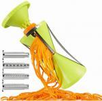 Buy cheap 4 Blades Spiral Vegetable Slicer, Kitchen Gadget Vegetable Fruit Carrot Slicer from wholesalers