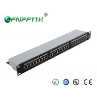 Buy cheap Modular FTP 24 port cat6 patch panel wall mount with Fluke certificated from wholesalers