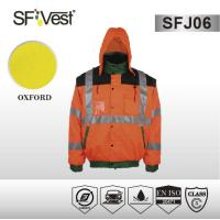 Buy cheap Motorcycle high visible clothing Reflective Safety Jackets for construction EN ISO 20471 product